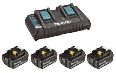 MAKITA 199485-6 Set akumulátorů 4x18V LXT 6,0Ah Li-ion BL1860B + DC18RD + MAKPAC(7915068)