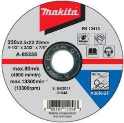 MAKITA A-85335 Kotouč řezný kov 230x2,5x22 A30R-BF-Kotouč řezný kov 230x2,5x22 A30R-BF