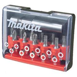 MAKITA D-31083 Sada bitů PZ/PH/TX s nástavcem-Sada bitů v plastové krabičce, 12 dilů