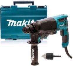 MAKITA HR2630X7 Kladivo kombi 2,4J 800W SDS-plus s adaptérem a sklíčidlem       -Kladivo kombi 2,4J 800W SDS-plus s adaptérem a 13mm sklíčidlem