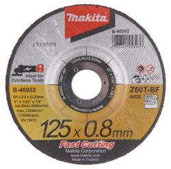 MAKITA B-46953 Kotouč řezný kov 125X0,8X22,23 Z60T-BF-Kotouč řezný kov 125X0,8X22,23