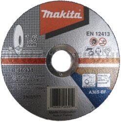 MAKITA B-46931 Kotouč řezný kov 125X1,6X22,23 A36S-BF-Kotouč řezný kov 125X1,6X22,23