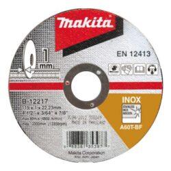 MAKITA B-12217 Kotouč řezný nerez 115X1X22,23 A60T-BF-Kotouč řezný nerez 115X1X22,23 A60T-BF