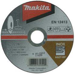 MAKITA B-12239 Kotouč řezný nerez 125X1X22,23 A60T-BF-Kotouč řezný nerez 125X1X22,23 A60T-BF