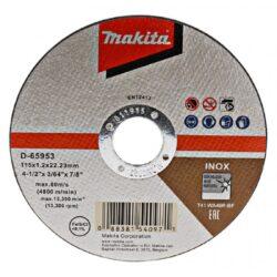 MAKITA D-65953-12 Kotouč řezný INOX 115x1,2mm v boxu (12ks bal.)-Kotouč řezný INOX 115x1,2mm v boxu (12ks bal.)